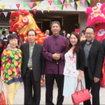 Group with Lion Dancing